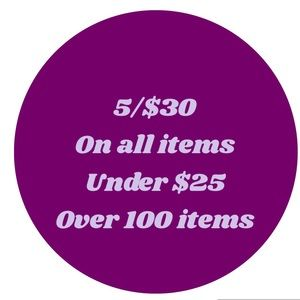 🌟5/$30🌟 SALE!! All items under $25